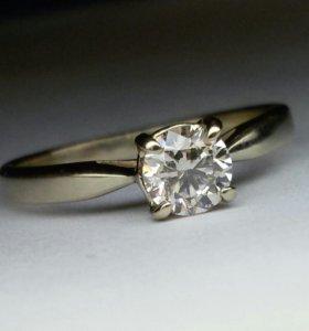 Кольцо с бриллиантом 0.40 карата.