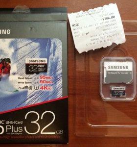 Карта памяти microSDHC Samsung PRO Plus 32GB