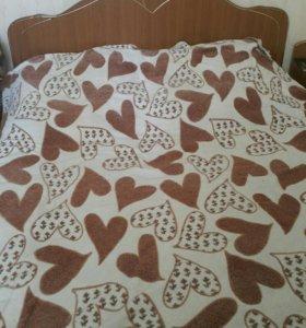Кровать двуспальная с 2 тумбочками