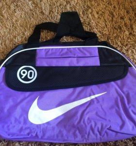 Спортивная сумка сиреневая