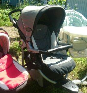 коляска+Люлька,стульчик,кресло авто.