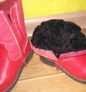 Детская обувь натуральная кожа,натуральный мех.