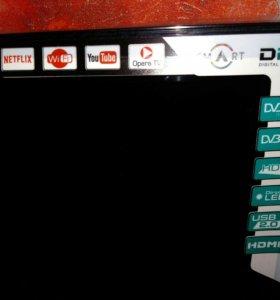 LED Телевизор Smart TV на запчасти или ремонт