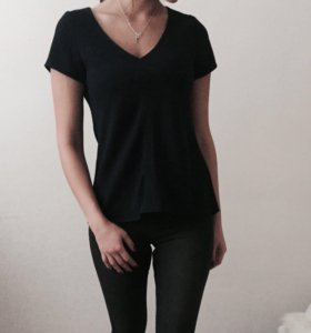 Темно-синяя блуза-футболка Ostin