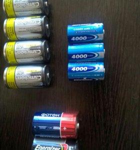 Аккумуляторные батарейки D 4500mah и C 4000mah