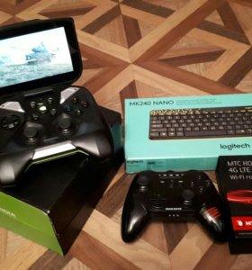 Nvidia shield +Mad Catz C.T.R.L. +Роутер +Клавиату