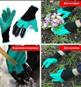 Перчатки садовые с когтями