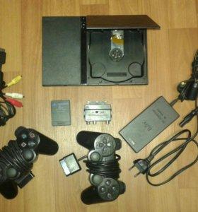 Sony Ps 2 + 27 дисков СРОЧНО!