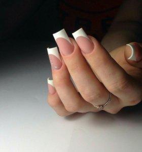 Наращивание ногтей, гель-лак, педикюр