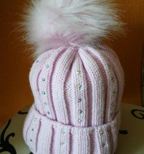 Зимняя шапка для девочки 8-10 лет