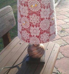 Настольная лампа ажурный плафон
