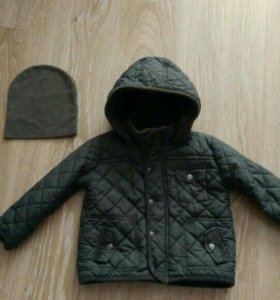 Демисезонная куртка+шапочка