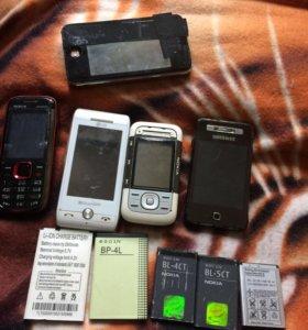 Телефоны и аккумуляторы