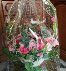 Букет из конфет для подарка на свадьбу