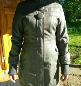 Кожанная куртка, размер 44-46