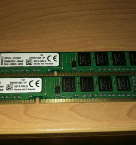 Оперативная память. ddr3 kingston 4gb×2
