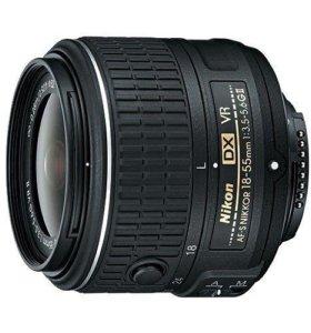 Объектив Nikon 18-55mm f/3.5-5.6G AF-S VR II DX