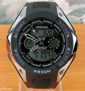 Спортивные часы Ohsen - серебристые с черным