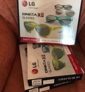 Очки для 3D тв НОВЫЕ 4 шт