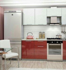 Кухня София гранат 2.1м мдф вся