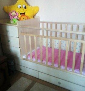 Кроватка детская 'Трансформер'