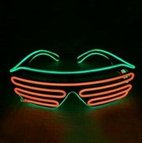 Неоновые Led очки