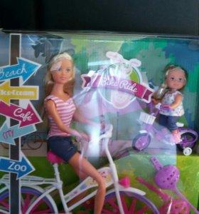 Новый набор кукла барби/стеффи на прогулке