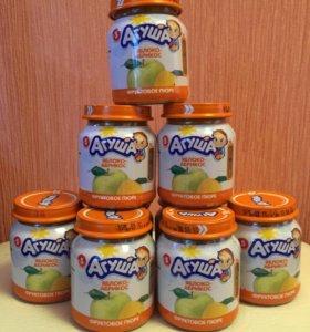 Агуша яблоко/ абрикос фруктовое пюре
