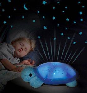 Ночник-проектор «Черепаха» с музыкой