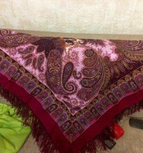 Павлопосадская шаль ( цвет Фуксия)