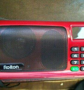 Колонка портативная, громкая ,с МР-3 и FM