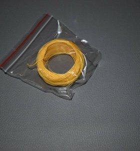 Нитки по коже желтые, вощеные 50м.
