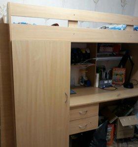 Кровать чердак ( + шкаф в подарок)