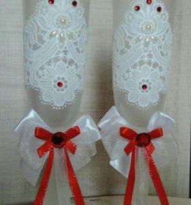 Свадебная пара бокалов