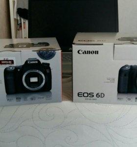 Коробки от Canon 6D и 70D