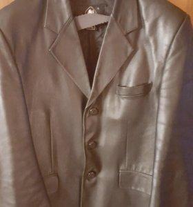 Пиджак кожаный