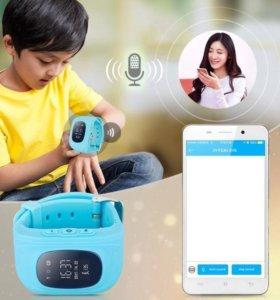 Часы детские с GpS, телефоном, кнопкой SOS.