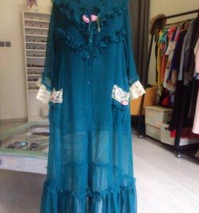 Будуарный комплект свадебное платье накидка ночной