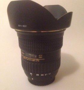 Обьектив Tokina 17-35 f4 fx for Nikon