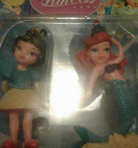 2фигурки принцесс дисней