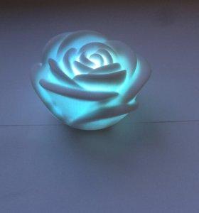 Ночник маленький , роза