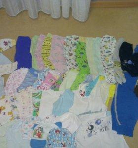 Одежда пакетом для малыша от о до года