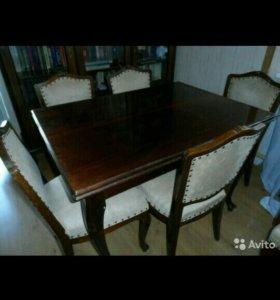 мебельный гарнитур (массив ореха с инкрустацией)