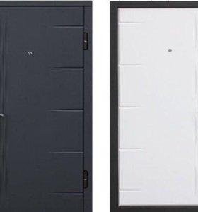 Дверь металлическая Графит Белый матовый