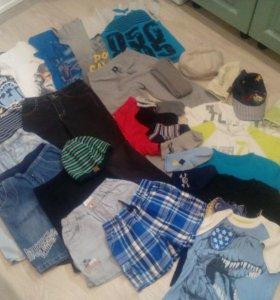 Одежда на мальчика пакетом р.116-122