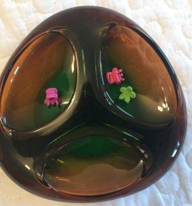 Вазочка ( тарелка) стекло