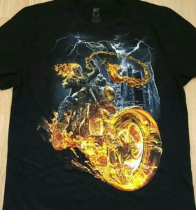 Футболка мужская Мотоцикл в огне