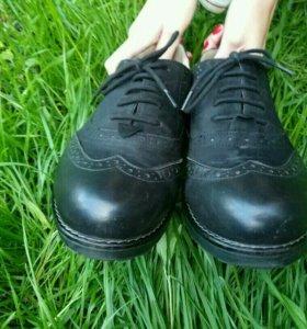 Ботинки натуральная кожа 38-39р