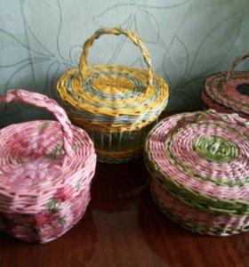 Плетёные корзины,конфетницы,фруктовницы
