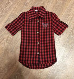 Новая детская рубашка с микки